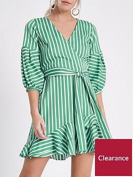 ri-petite-wrap-stripe-dress--green