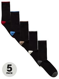 v-by-very-mens-contrast-heel-amp-toe-5-pack-socks-black