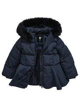 mini-v-by-very-girls-fully-padded-navy-peplum-coat