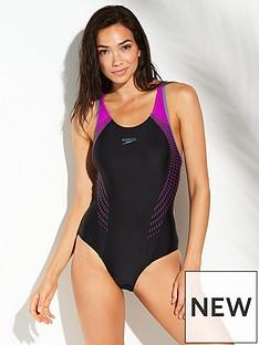 speedo-fit-lanebacknbspswimsuit-blackpinknbsp
