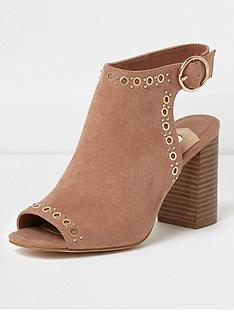 river-island-eyelet-shoe-boot--beige