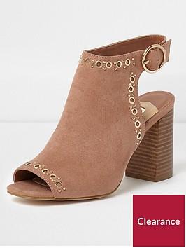 river-island-eyelet-shoe-boot--beige