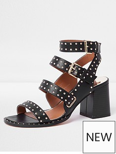 river-island-river-island-multi-strap-studded-sandal--black
