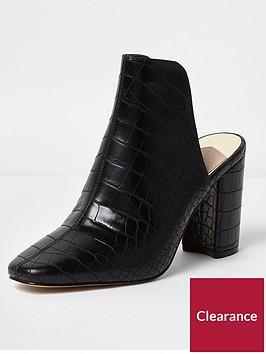 river-island-croc-block-heel-mule-black