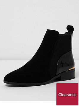 river-island-suede-chelsea-boots-black