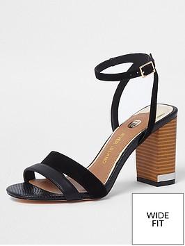 river-island-river-island-wide-fit-strappy-block-heel-sandal--black