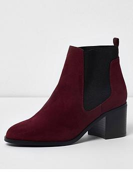 river-island-block-heel-chelsea-ankle-boots-dark-red