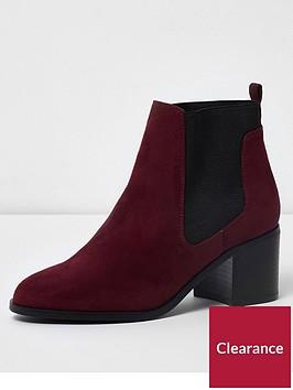 river-island-block-heel-chelsea-ankle-boots-dark-red