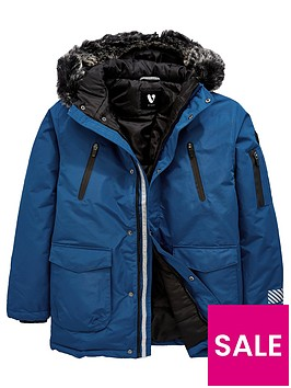 v-by-very-boys-faux-fur-trim-hooded-padded-parka-blue