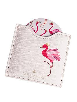 sara-miller-flamingo-cosmetic-mirror
