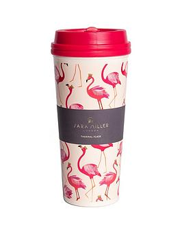 sara-miller-flamingo-travel-mug