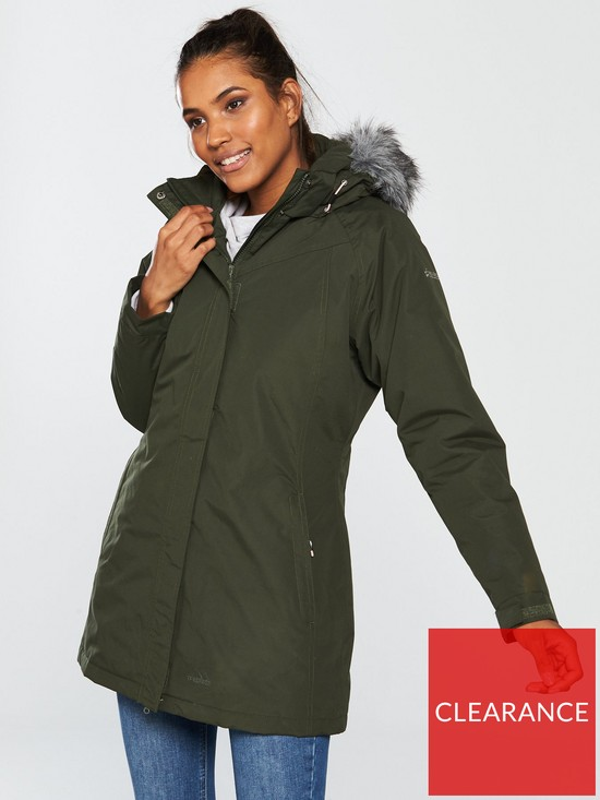 3da768082 San Fran Fur Trim Jacket - Olive