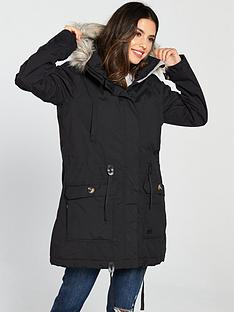 trespass-dollies-parka-black