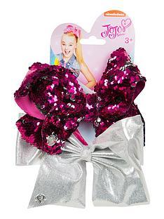 jojo-bow-set-pink-sequinsilver