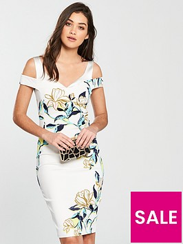 karen-millen-magnolia-print-dress-white