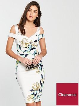 karen-millen-magnolia-print-dress-white