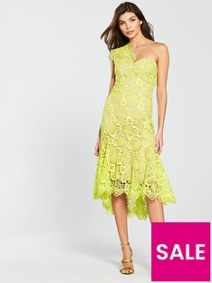 karen-millen-bi-colour-chemical-lace-dress-lime