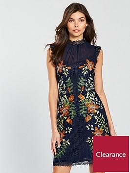 karen-millen-wisteria-placed-chemical-lace-dress-blue