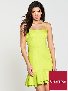 karen-millen-techno-sun-fun-dress-lime