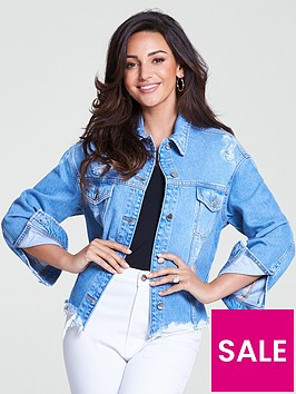 michelle-keegan-distressed-denim-jacket-mid-wash