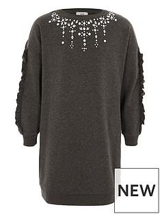 river-island-girls-dark-grey-embellished-sweatshirt-dress