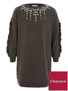 river-island-girls-dark-grey-embellished-sweatshirt-dress