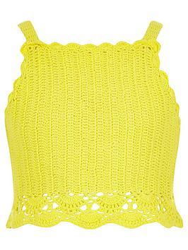 river-island-girls-yellow-crochet-cami-crop-top