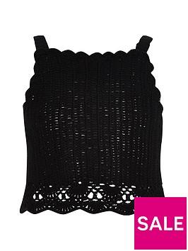 river-island-girls-black-crochet-cami-crop-top