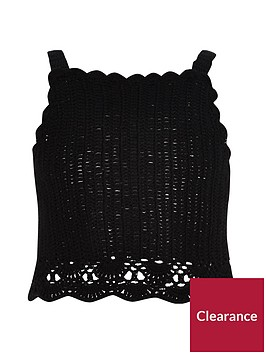 river-island-girls-black-crochet-cami-crop-top
