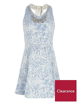 river-island-girls-blue-necklace-twist-back-skater-dress