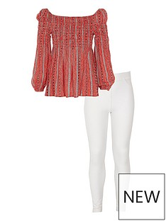 river-island-girls-red-stripe-bardot-top-and-leggings-outfit