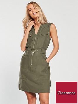 karen-millen-clean-utility-dress-khakinbsp