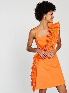 coast-camille-ruffle-dress-tangerinenbsp