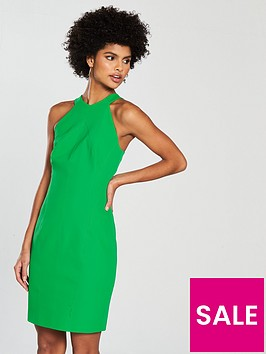 karen-millen-scuba-pencil-dress-greennbsp