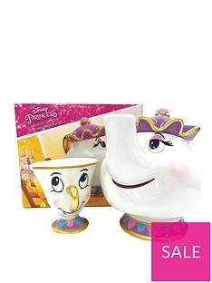 10081e9cc Disney Beauty and The Beast Mrs Potts Teapot And Chip Mug Set