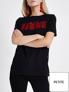 ri-petite-ri-petite-femme-fringe-popper-side-t-shirt--black