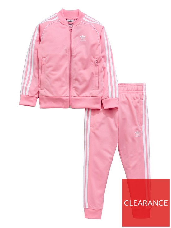 59dc7294e973 adidas Originals Younger Girls Superstar Tracksuit - Pink