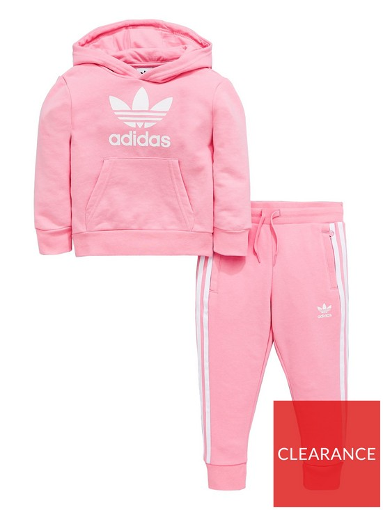 58482726a3b3 adidas Originals Younger Girls Trefoil Tracksuit - Pink