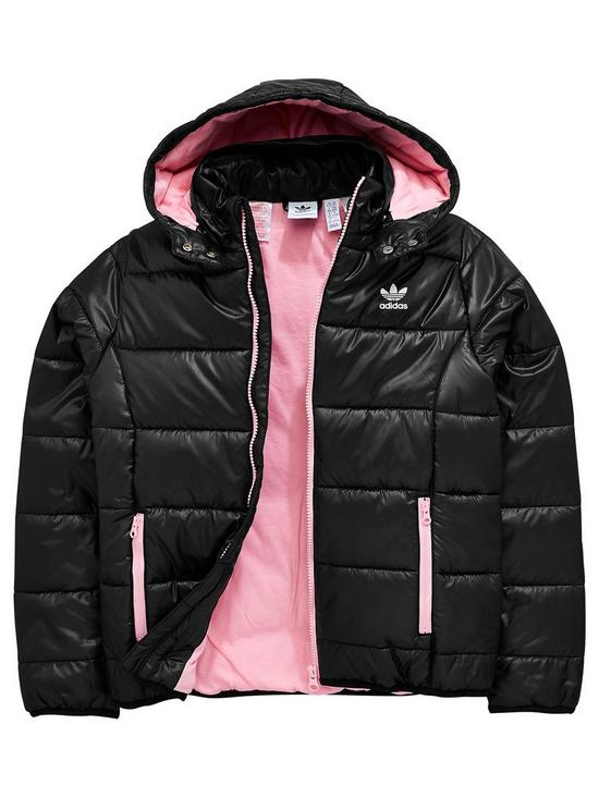 71334c38ef54 adidas Originals Girls Trefoil Jacket - Black