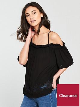 river-island-cold-shoulder-blouse--black