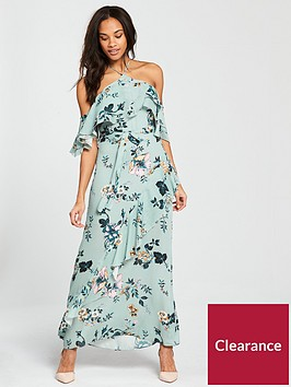 river-island-river-island-printed-ruffle-strappy-dress--blue