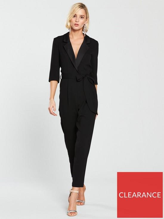 6ccc2dc0e5 River Island Tuxedo Jumpsuit - Black