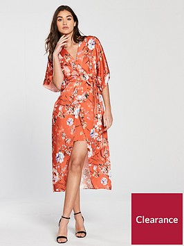 river-island-river-island-printed-waisted-dress--orange