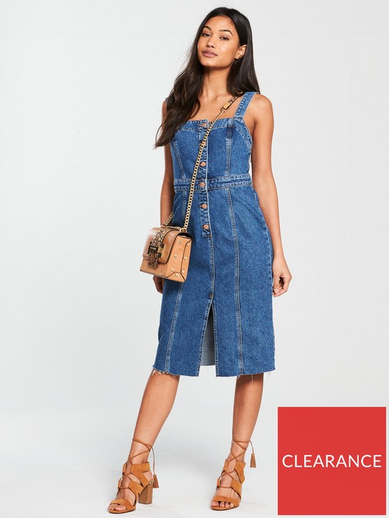 8d2af4c2a9 River Island Denim Midi Dress- Mid Auth