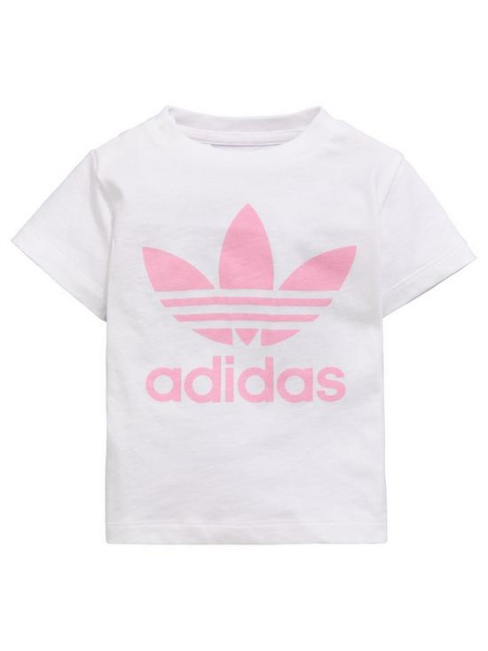55863bb0b4f adidas Originals Baby Girls Trefoil Tee | very.co.uk
