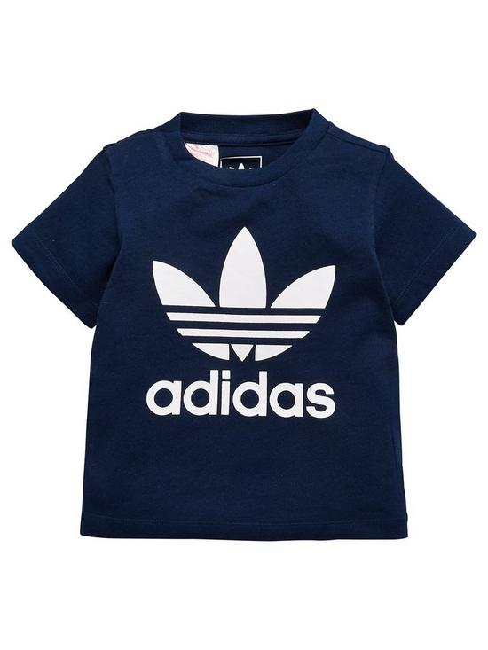 fdfb872d0df adidas Originals Baby Boys Trefoil Tee - Navy | very.co.uk