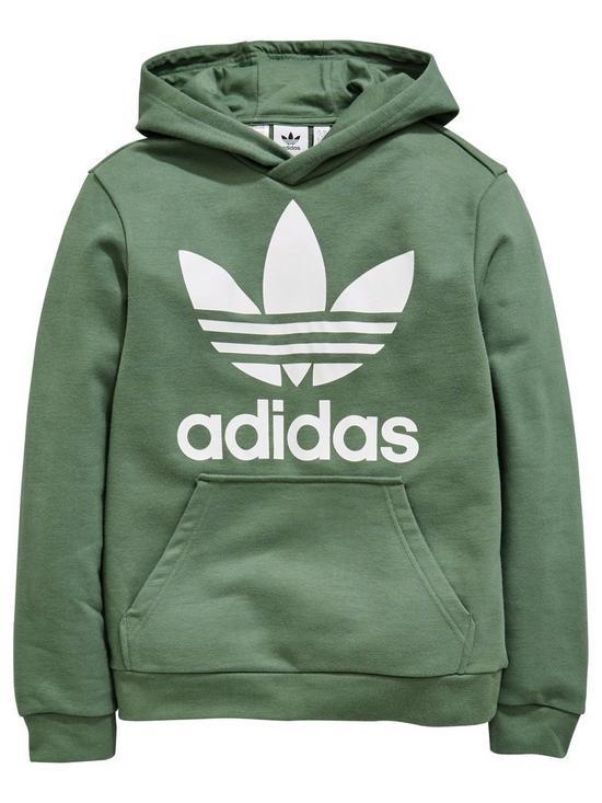726be331c85b adidas Originals Boys Trefoil Hoodie - Green