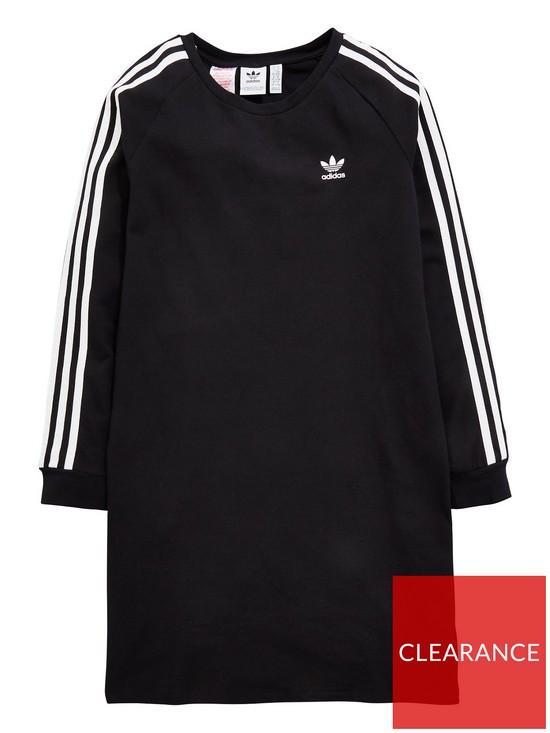 014b800ab4a0 adidas Originals Girls Trefoil Dress - Black