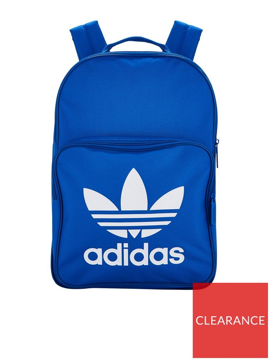 41e9c8acd0b adidas Originals Kids Classic Trefoil Backpack - Blue   very.co.uk