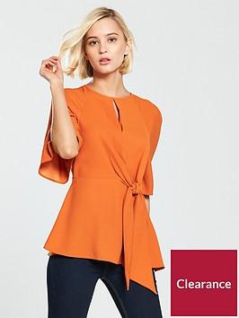 river-island-tie-front-blouse--orange